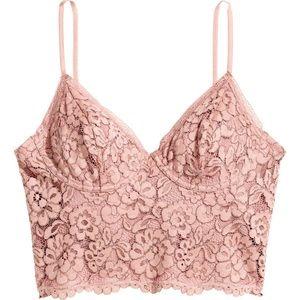 H&M Blush Pink Bustier